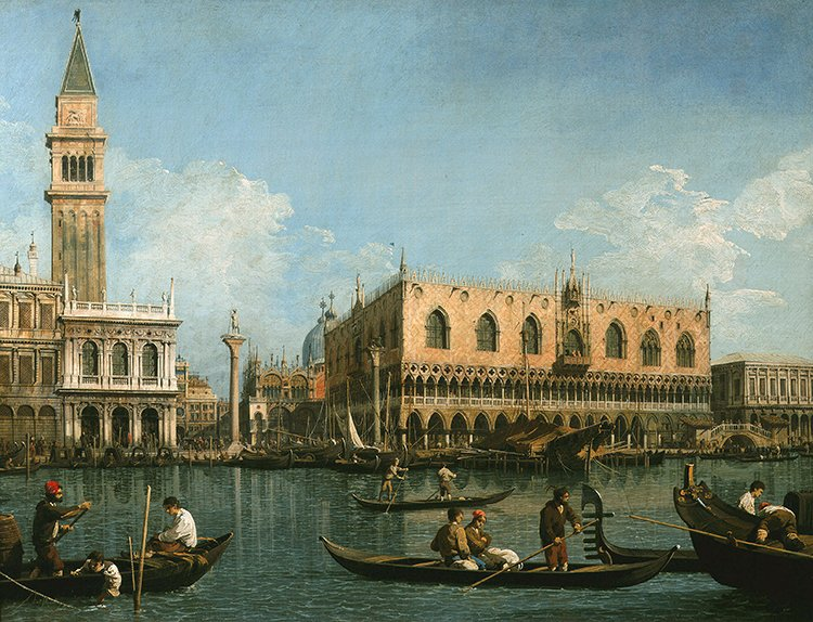 View of basin of St Marks Square, Venice  | Photo Credit: [ The Art Archive / Brera Library Milan / Alfredo Dagli Orti ]