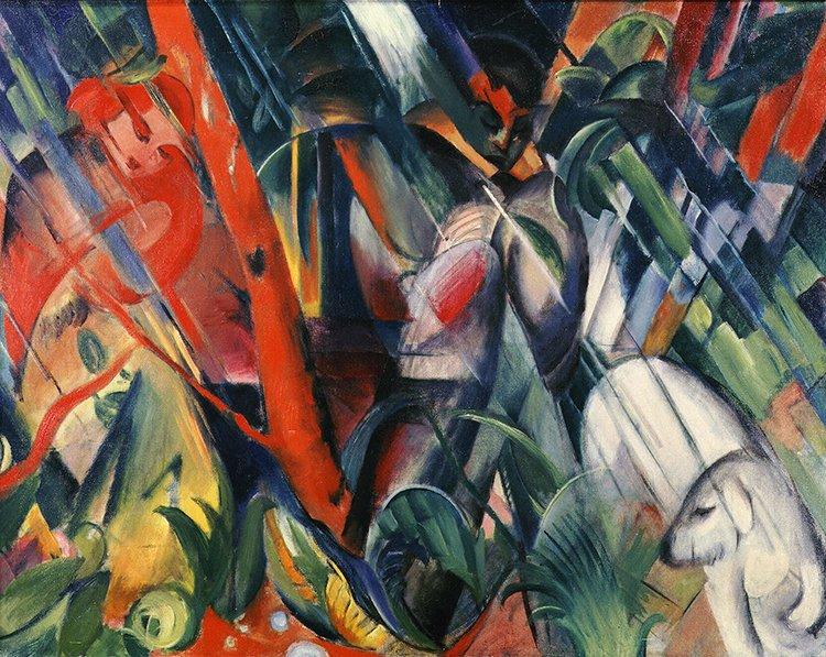 Desc: Sous La Pluie (Under the Rain) 1912 • Artist: MARC, Franz : 1880-1916 : German • Credit: [ The Art Archive / Städtische Galerie im Lenbachhaus Munich / Dagli Orti (A) ] • Ref: AA344828
