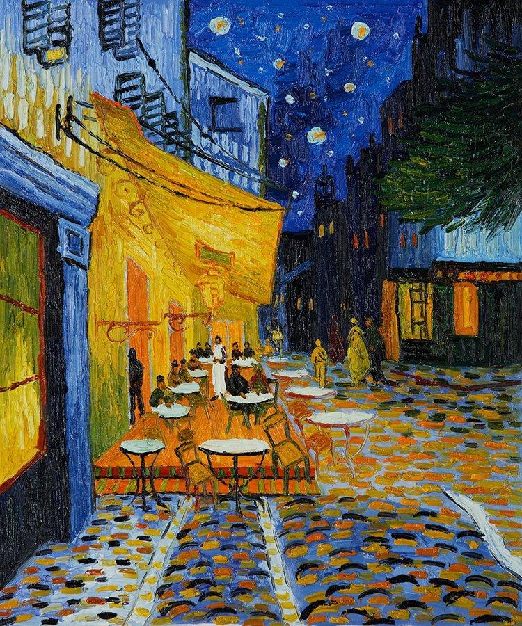 """Quadro 2. Tela do artista van Gogh, """"Terraço do Café à Noite"""""""
