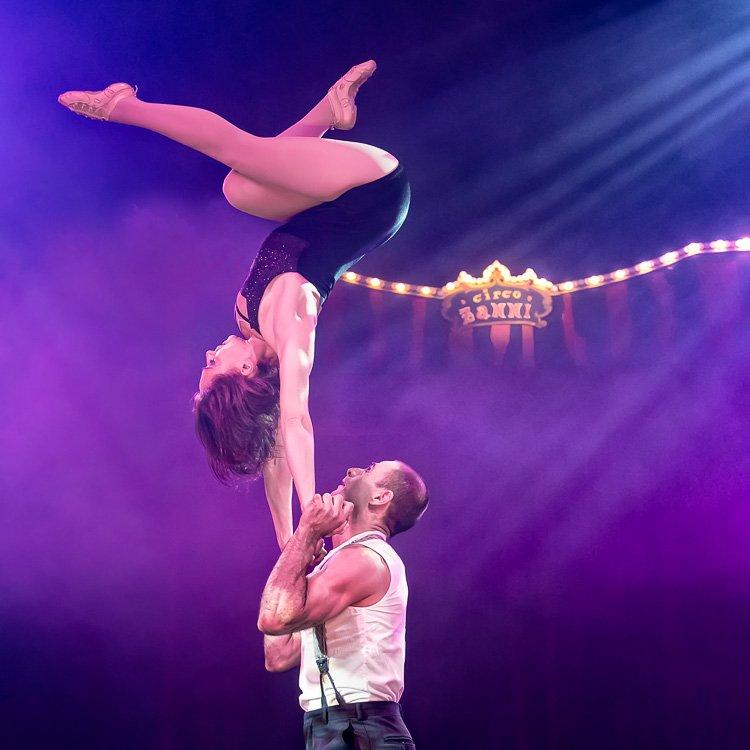 Marina & Cosmai - Cia LaMala no Circo Zanni - Dezembro 2016